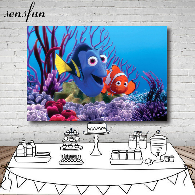 Sensfun Finding Dory Nemo Under Blue Sea Bed Corals Rocks Custom Photography Studio Background Backdrop Vinyl 7X5ft