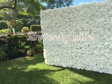 Wedding Flower Wall Flower with Stand Rose & Hydrangeas Backdrop with Aluminum Folded Pipe Event Props