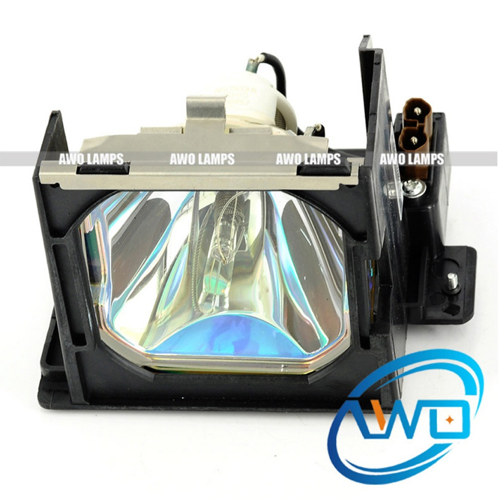 AWO High Quality Projector Replacement Lamp LV-LP13 with Housing for CANON LV-7545 Projectors Shippment within 48 hours free shipping replacement projector lamp with housing lv lp25 0943b001aa for canon lv x5 projectors