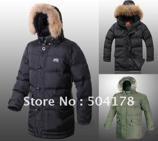 Aliexpress.com : Buy Men's Black Long Down Jacket Coat Super Heat ...