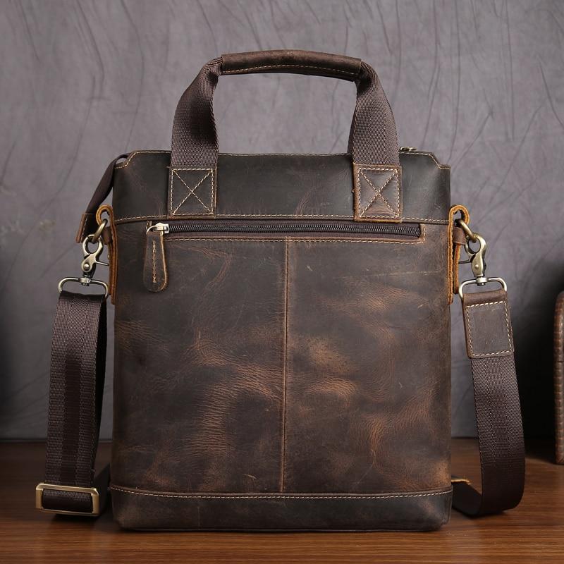 Männer Handtasche Vintage Echtes Leder Crazy Horse Handtaschen Aktentasche Schulter Umhängetasche Messenger iPad Tasche für Mann 5803 auf   2