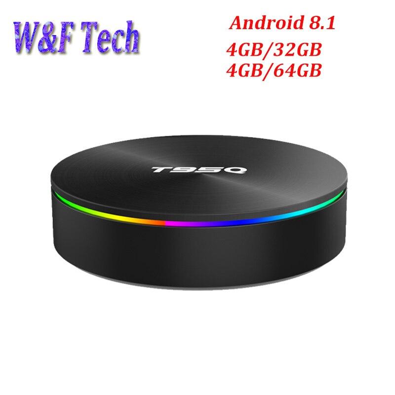 T95Q 4GB 64GB Android 8.1 Amlogic S905X2 TV BOX Quad Core LPDDR4 2.4G & 5GHz double Wifi BT4.1 H.265 4K lecteur multimédia Smart Box