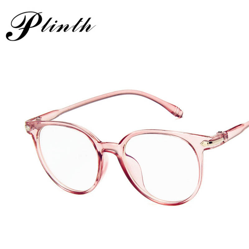PLINTH Classic Reading Sunglasses Women Transparent Lens Round Sun Glasses Vintage Ray Bann Sunglasses Ladies Refined Frame image