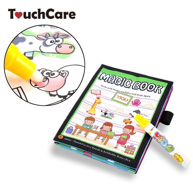 Touchcare Anak Anak Hewan Magic Water Menggambar Buku Bayi