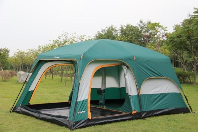 Сверхбольших один зал с двумя спальнями двойной слой 6-12 человек использовать открытый партии семьи палаточного городка