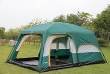 Очень один зал с двумя спальня двойной слой на возраст от 6 до 12 лет человек по громкой связи с помощью открытого вечерние семейная походная палатка
