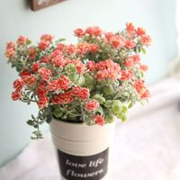 New Real Toch Flowers Sweet Artificial Flower Fake Leavies Plant Wedding Bouquet Flower Potted Home Decoration