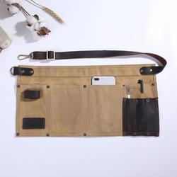 Multi Pocket Schort voor Vrouwen Echt Leer Canvas Half Schort Pocket Serveerster Leraar Vendor Utility Server Cosmetische Schort