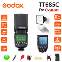 Godox TT685C TTL Speedlite High Speed Sync External + XPRO C Transmitter For Canon Flash 1100D 1000D 7D 6D 60D 50D 600D 500D