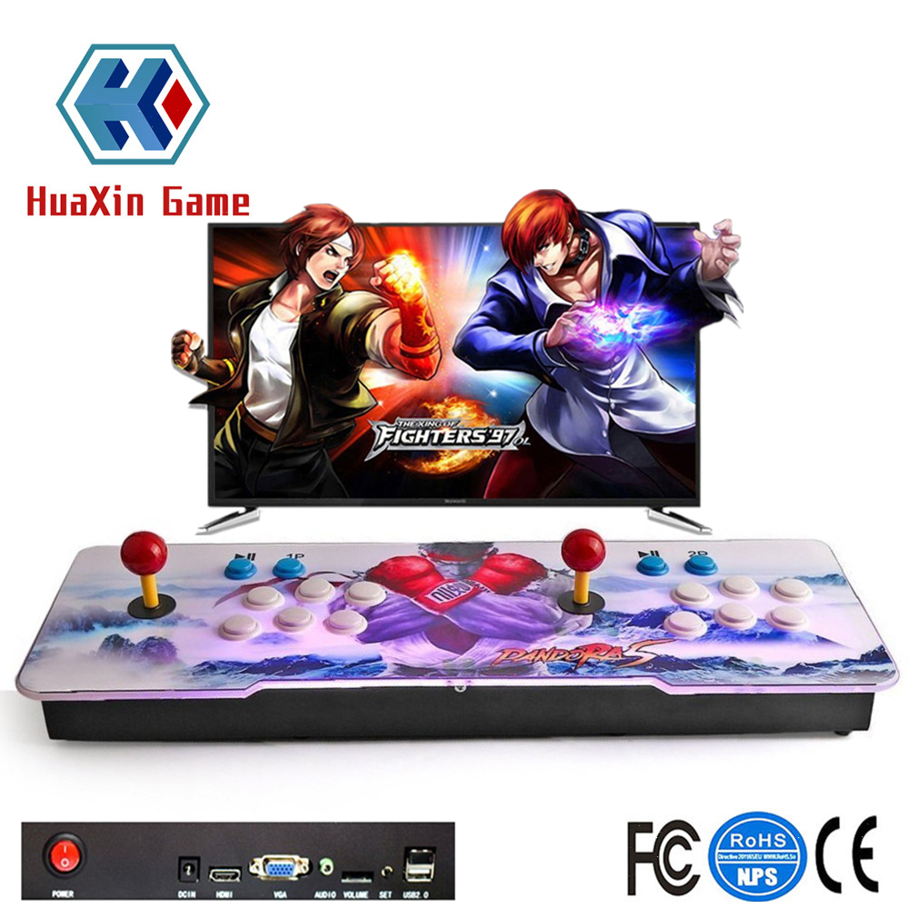 Arcade Game Console 1388 in 1 Video Games Double Stick Home Slim Metal LED Game Box Consoles Support HDMI VGA and USB Output 2018 newest hd vga output diy arcade video game machine consoles with 1388 in 1 multi game board pandora s box 6s made in china