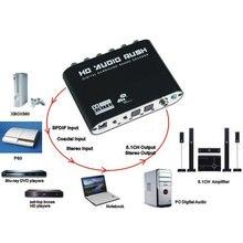 Kebidumei 5.1 CH audio decoder Optical digital to 5.1 Amplifier Analog Converte SPDIF Coaxial to RCA DTS AC3 with EU Plug