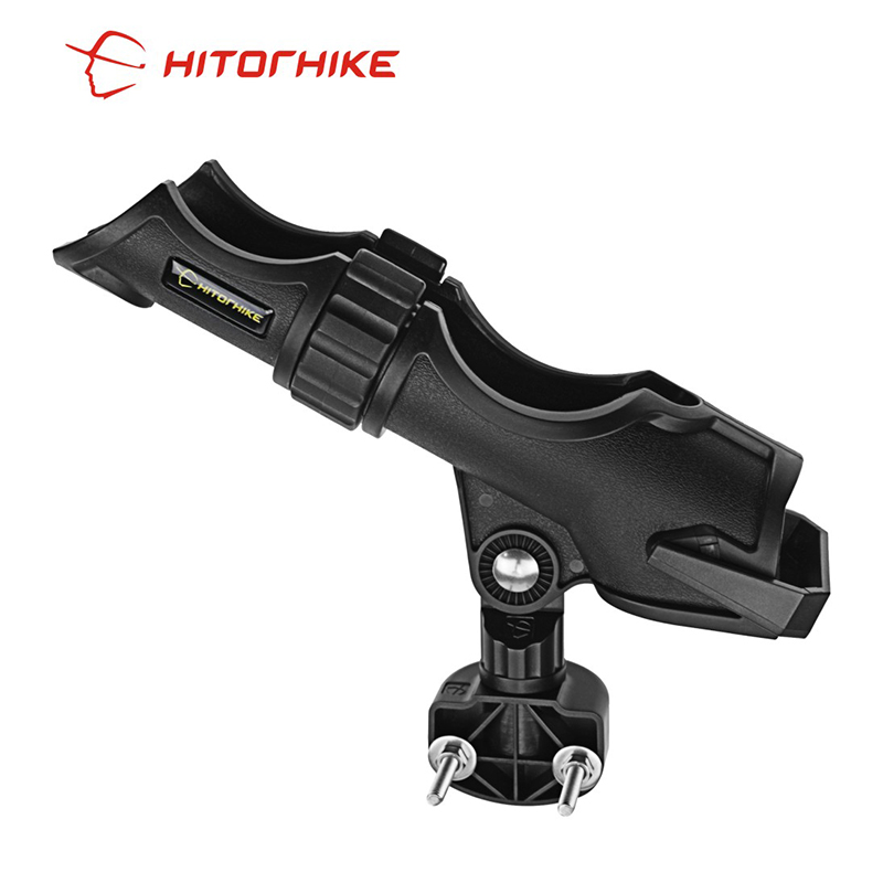 Fishing Tackle Accessory tool Adjustable Side Rail Installation or Directly Installed on Kayak & Boat Fishing Pole Rod Holder