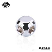 BYKSKI G1/4 ''X3 черный, серебристый цвет золото 3-сторонний выход кубический адаптеры водяное охлаждение Аксессуары Фитинги Многоканальная система