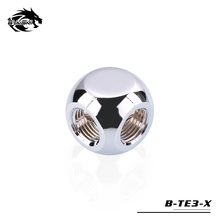 "BYKSKI G1/4"" X3 Black Silver Gold 3-Way Cubic Adaptors Water Cooling Accessories Fittings Multi-channel"