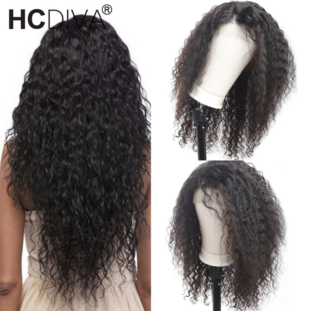 Curly Human Hair Wig 150 Brazilian Remy Hair 360 Lace Front Human Hair Wigs For Black