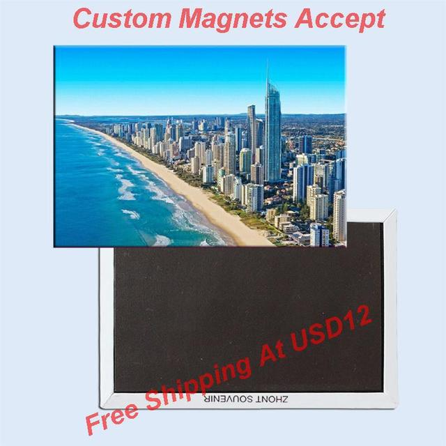 10k landmarks magnets home decor stickersaustralia gold coast souvenir fridge magnet 5677