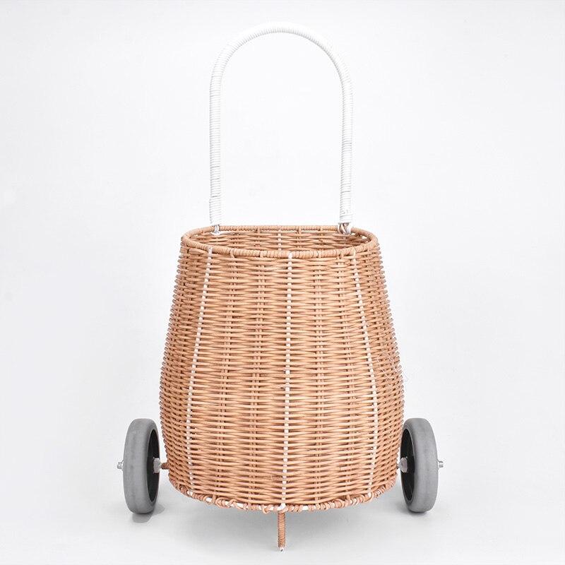 Handmade with Love เด็กลักกี้ตะกร้าขนาดเล็กเด็กรถเข็นเด็กช้อปปิ้งรถเข็น-ใน กระเป๋าเดินทางแบบลาก จาก สัมภาระและกระเป๋า บน   1