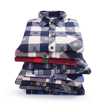Brand Men's Shirts 2019 Spring Autumn New Male Casual Shirts Cotton Flannel Plaid Long Sleeve Shirt High Quality Clothes Camisa