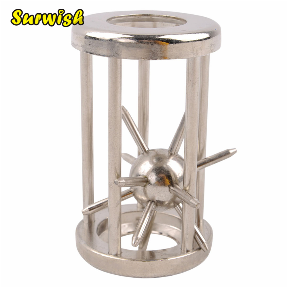 Surwish Trapped Satellite Metal Puzzle IQ Brain Teaser Disentanglement Game for Children Adults GH7102 ring lock puzzle classic metal brain teaser iq test toy for adults children