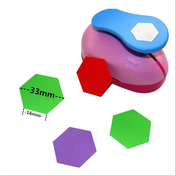 Free Ship Hexagon Punch Paper Cutter Crafts Scrapbook Embossing Device Kid Hole Punches Cortador De Papel  S2934-8