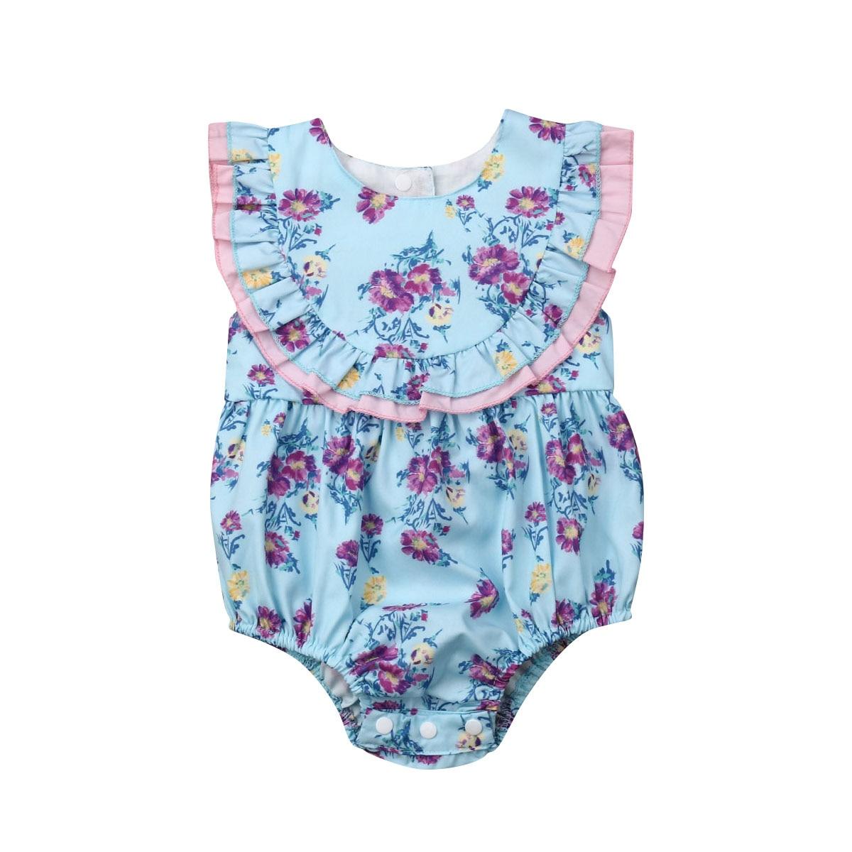 Begeistert Floral Body 2019 Sommer Neugeborenen Baby Mädchen Rüschen Ärmel Ein Stück Prinzessin Mädchen Overall Sunsuit Kleidung 0-24 M Geeignet FüR MäNner, Frauen Und Kinder