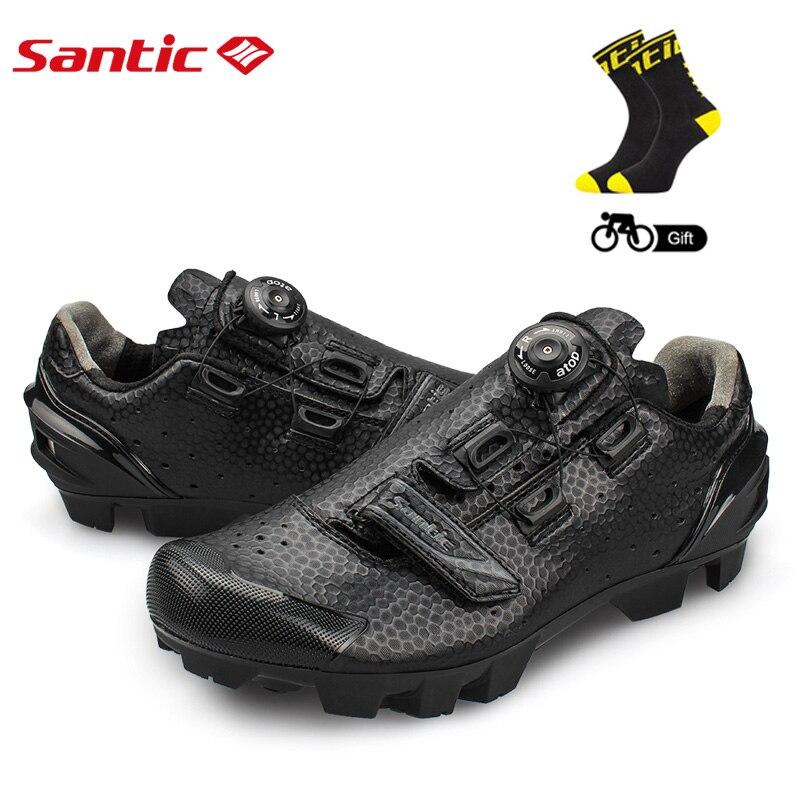 SANTIC hommes chaussures de cyclisme respirant ultraléger autobloquant vtt VTT baskets athlétique PU + TPR chaussures de vélo Ciclismo