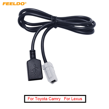 FEELDO 1Pc New Arrival USB AUX MP3 Audio Input cable For Toyota Camry RAV4 Mazda CX-5/M2 CD Player car-styling jn23 #AM5093 image