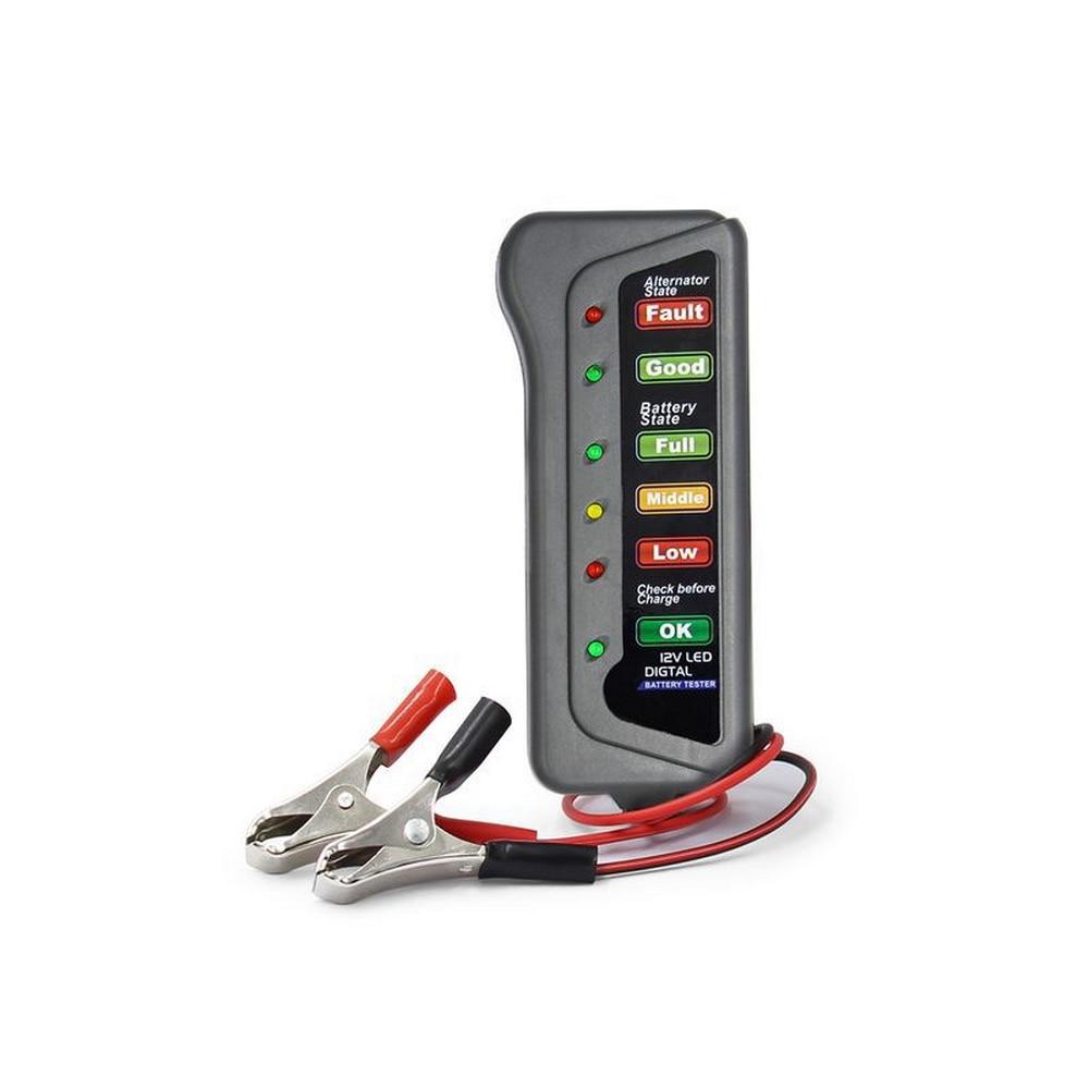 12 В автомобильный тестер-измеритель для аккумулятора генератор батареи тестер с 6 светодиодный дисплей батарея автомобильные инструменты ...