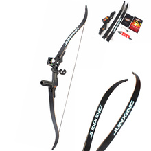 JUN XING Recurve Bow 54 inch  30-50 lbs Riser Length 17 inch  Hunting Bow for Archery Outdoor Sport Hunting Archery Practice стоимость