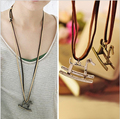Maxi necklace Vintage necklaces pendants Women Jewelry Fashion choker necklace Bronze horse cross Wooden Pendant Necklace Wood 1