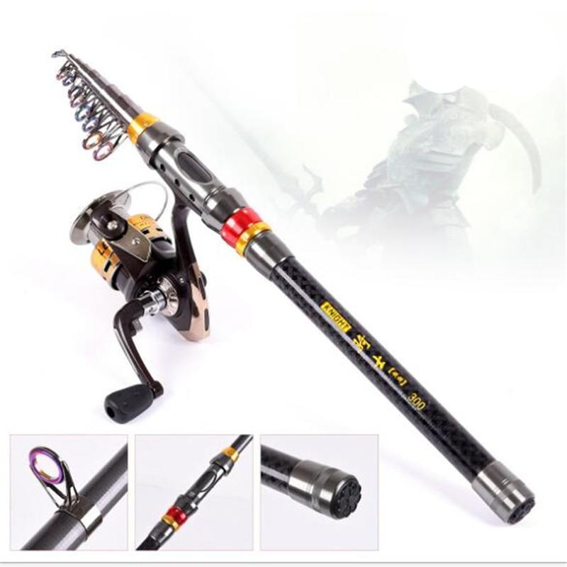2017New High Quality Carbon 1.8m 2.1m 2.4m 2.7m 3m Portable Telescopic Fishing Rod Fishing Telescopic fishing rod Sport Tools