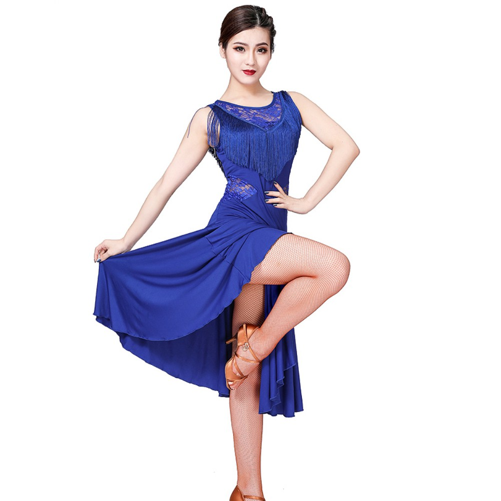 2019 New Girls Kids Adult Modern Ballroom Latin Dance Dress Tango Dance Wear Black Performance Stage Wear