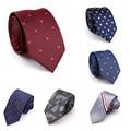 New Arrivel Brand Mens Ties Man Fashion Neckties Corbatas Hombre 2016 Gravata Jacquard 6cm Slim Tie Business Green Tie For Men