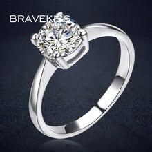 Bravekiss Классические Свадебные Кольца для женщин обручальные