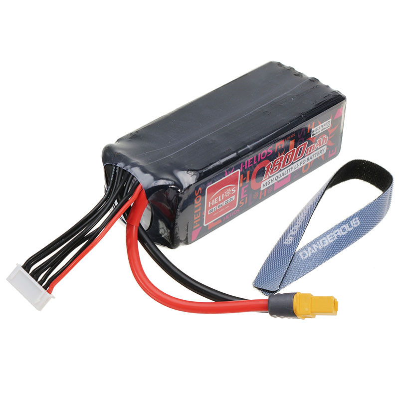 High Quality Helios 22.2V 1800mAh 6S 55C XT60 Plug Lipo Battery For ALZRC Devil 380 420 480 Align 470 Helicopter alzrc devil 380 fast fiberglass painting canopy set s a s b