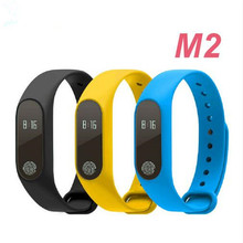 New M2 Heart Rate Smart Wristbands Band Smart Bracelet Bluetooth 4.0 Smartband with Sleep Monitor For iOS Android