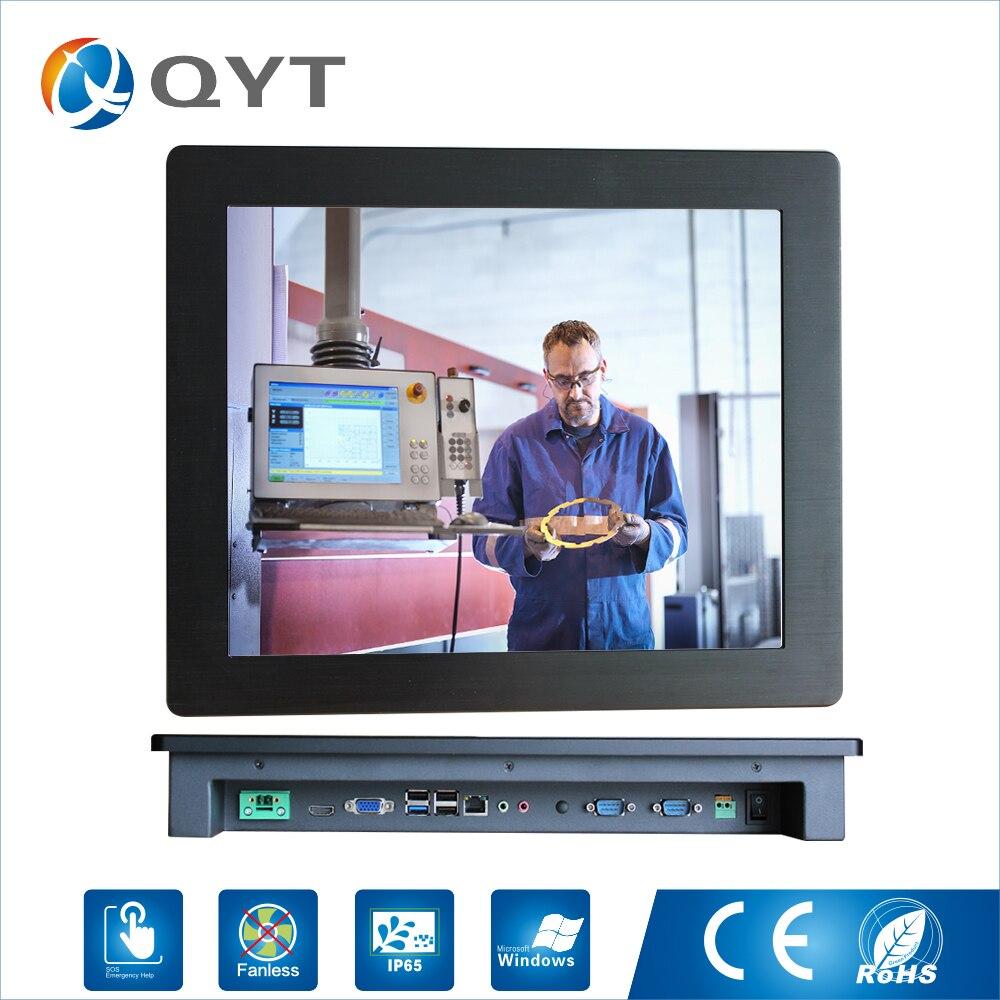 19 pollice 1280x1024 Risoluzione 4 gb DDR3 32g SSD Panel PC Industriale con touch screen resistivo con CPU celeron j1900 2.0 ghz