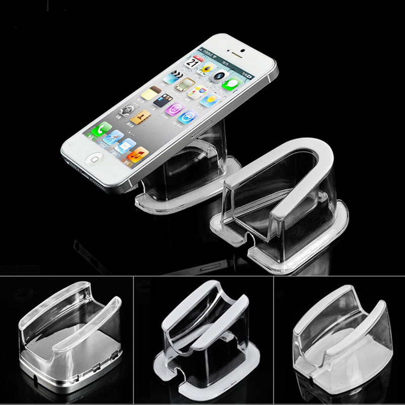50 pcs cell mobile phone security display stand Acrylic Ipad holder tablet anti-theft bracket for smart phone retail seure rack