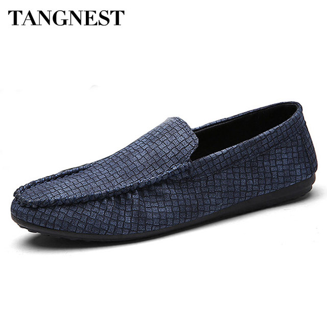Tangnest Korean Men Loafers 2017 Spring Autumn New Men Footwear Comfortable Pu Leather Man Flats Man Casual Shoes XMR2362