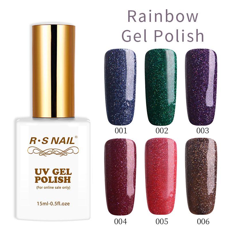 Rs Nail: RS Nail New Arrival Rainbow Gel Nail Glitter Gel Polish