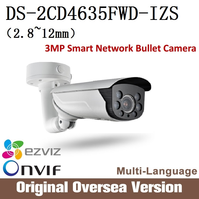 HIKVISION  English Version Ip Camera DS-2CD4635FWD-IZS 2.8-12mm 3MP Smart Vandal-proof Bullet camera audio Ip66 H265 Onvif RJ45 change up intermediate teachers pack 1 audio cd 1 cd rom test maker