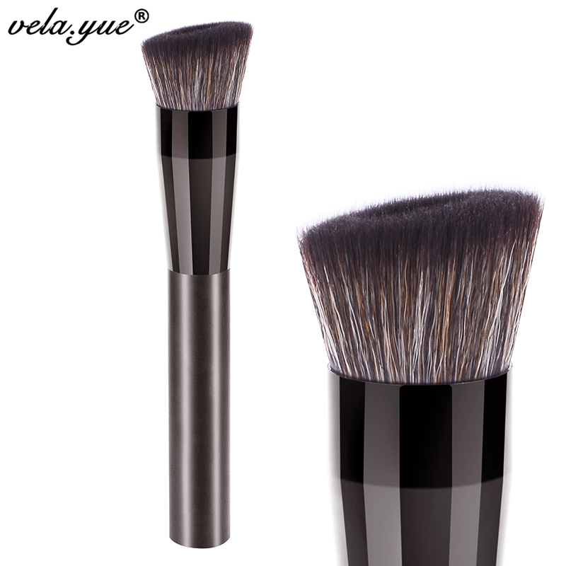 vela yue Angled Perfecting Face Brush Premium Foundation Makeup Brush вибромассажер рельефный vela розовый