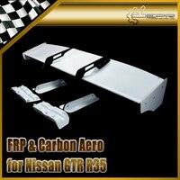 Car styling FRP Fiber Glass LB Style GT Wing Set Fiberglass Rear Trunk Spoiler Auto Body Kit Racing Accessories Trim For R35 GTR