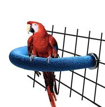 Bird Wooden Stand Perch Parrot Foot Toy U Shape Grinding Claw Toy Bird Supplies Bird Cage Accessories Pet Toys(China)