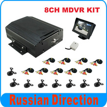 8CH CAR DVR kit with 8pcs rear view mini cameras