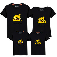 Child 2017 Parenting Family Dress Chick Summer Wear T T Shirt Tide Baby Leisure Time Cotton