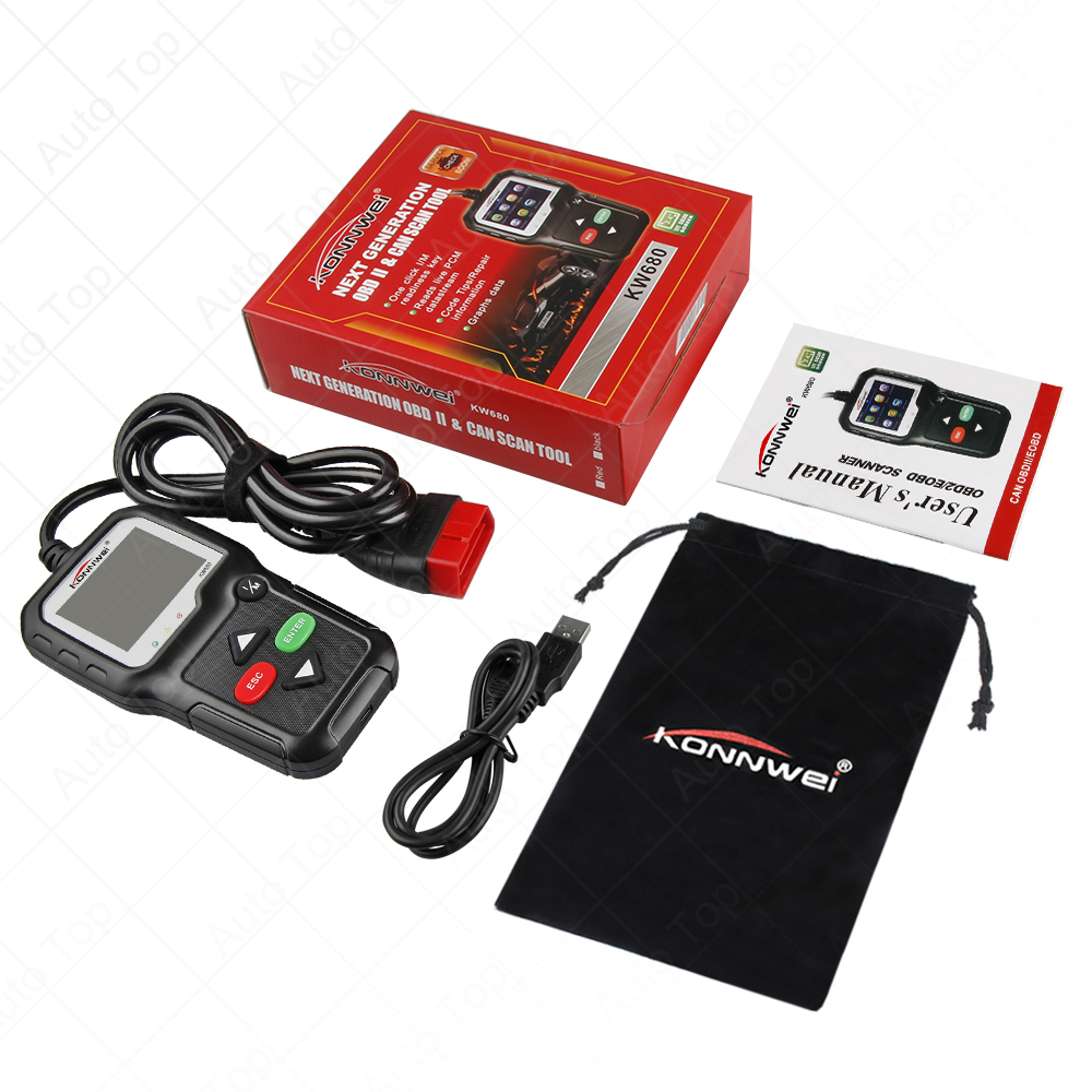 купить KW680 Car Diagnostic Scanner Code Reader OBD2 Full OBD2 Function OBD2 Auto Scanner Multi-language OBD2 по цене 2373.25 рублей