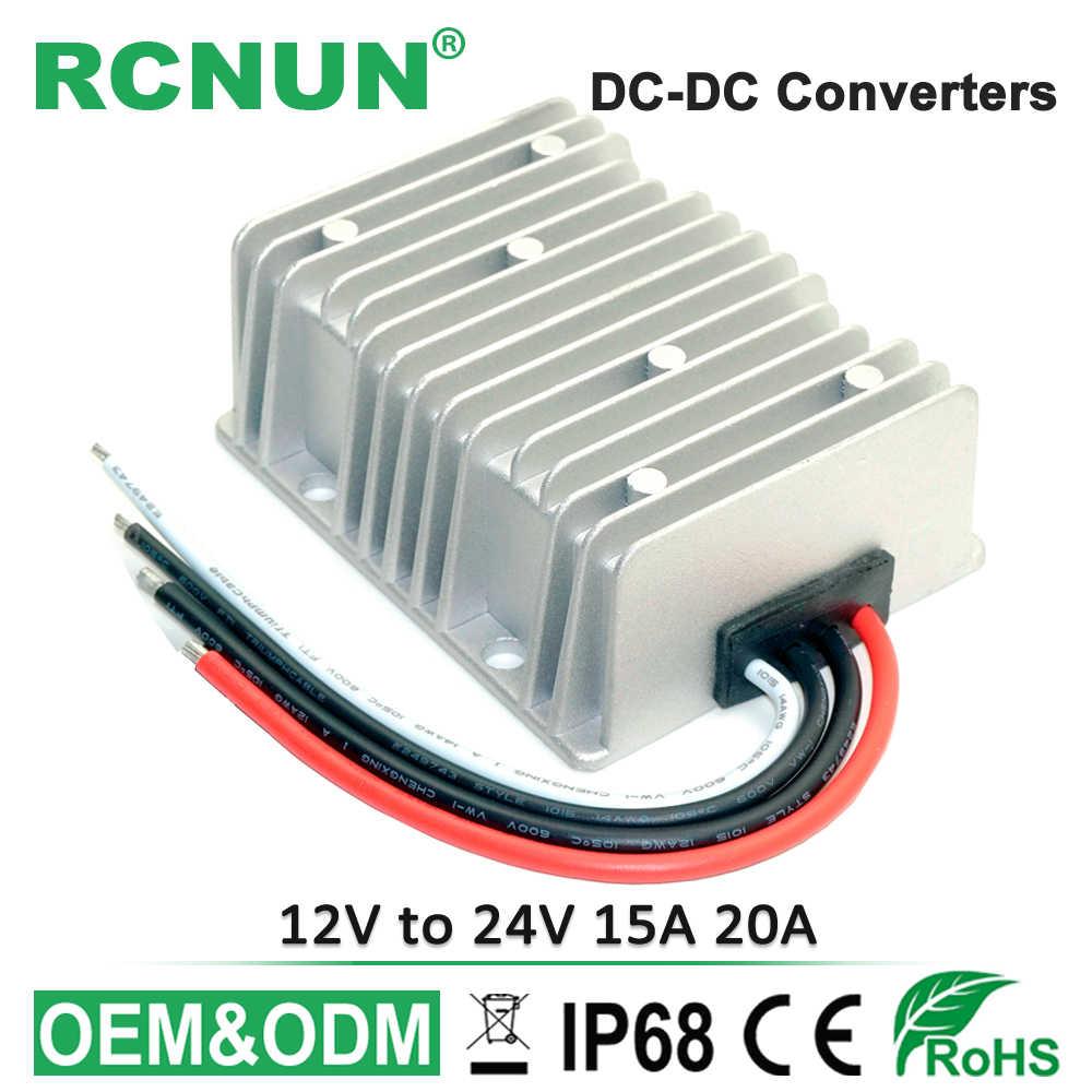 12 В до 24 В 15A 20A повышающий DC преобразователь 12 вольт до 24 вольт 500 Вт модуль силовой мощности для Автомобили, грузовики CE RoHS