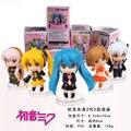 Vocaloid Meiko Minifigures Hatsune Miku Lily Haku Luka Mini PVC figuras de ação brinquedos 5 pçs/set caixa frete grátis