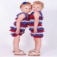 Baby Girl Ruffle Rompers American Dependent Day Outfit Baby Girl Fourth Of July Rompers